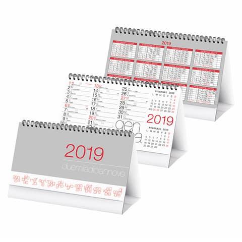 Calendario 2019 Moderno.Calendario Da Tavolo Moderno